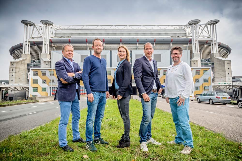 Het PDA-team: v.l.n.r.               Henk van Raan - Projectdirecteur                Hein Steer - Facilities                Claire Sleijffers - Communicatie                Marco Gerrese - Public Affairs                Frank de Leeuw - Secretaris               Josine Rienks - Commerciële zaken/stakeholders (ontbreekt op deze foto)